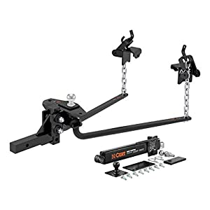 "CURT Round Bar Weight Distribution Hitch with Sway Control Kit (14,000 lbs. GTW, 2"" Shank, 2-5/16"" Ball)"