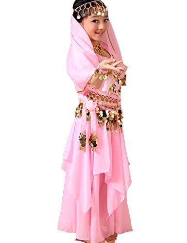 Astage Girls Princess Costume Halloween Dance Sets Pink 7-8 Years -