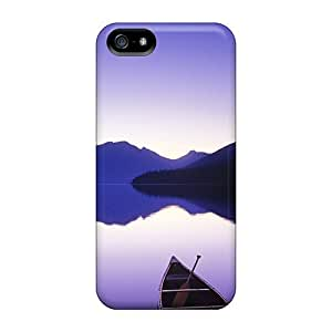 For Iphone 5/5s Tpu Phone Case Cover(purple Lake)