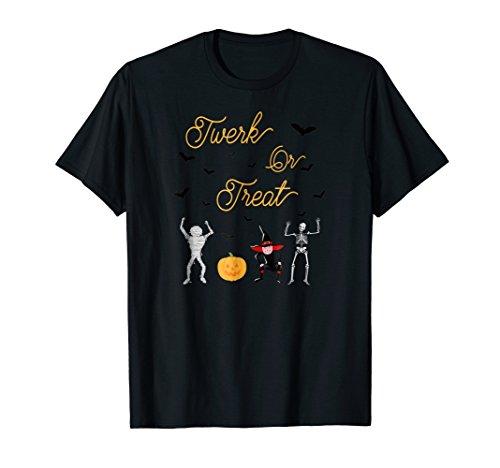 Twerk or Treat Dancing Characters Halloween T Shirt -