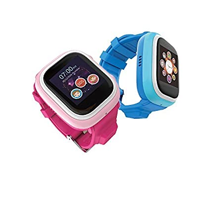 TickTalk Touch Screen Kids Wearable tracker wrist Phone w/ GPS locator, Anti-lost, Controlled by Apple and Android phone APP in Pink Including 1 FREE MONTH w/ T-MOBILE NETWORK!