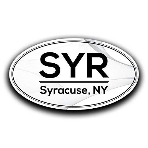 (More Shiz SYR Syracuse New York Airport Code Decal Sticker Home Travel Car Truck Van Bumper Window Laptop Cup Wall - Two 5.5 Inch Decals - MKS0633)