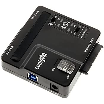 Coolgear USB 3.0 to IDE/SATA Adapter with Write-Protect Selection