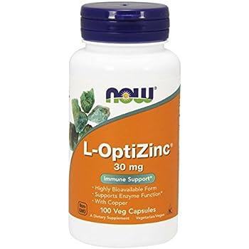 NOW L-OptiZinc 30 mg,100 Veg Capsules