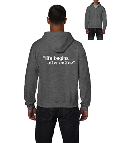 Life Begins After Coffee Mens Hoodies Zip Up - Metals Las Mall Vegas