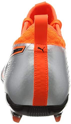 De Puma One 2 orange Fg 01 puma Soccer puma Noir Hommes Lth Silver Argent Choquant Chaussures Pour wCRSqrwT