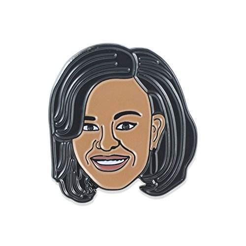 Obama Jewelry - Barack & Michelle Obama Celebrity Face Enamel Pin - Michelle