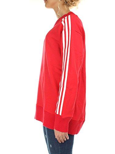 Adidas Felpa Girocollo Uomo Rosso CY5843-RADRED