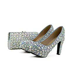 Crystal Wedding High Heel with Matching Purse