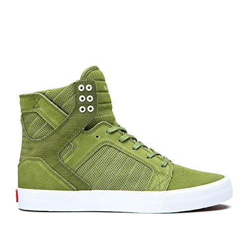 Supra Unisex Adults' Skytop Hi-Top Trainers, Green (Moss-White 371) 7.5 UK