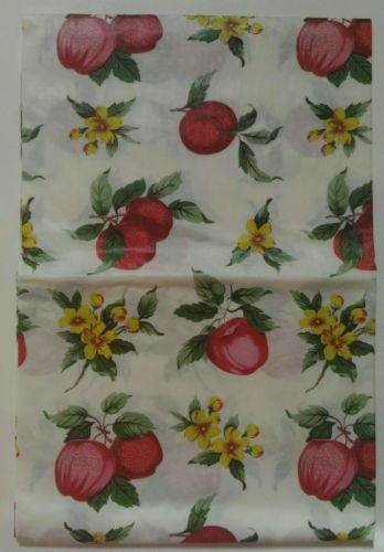 The Pecan Man Tablecloth Vinyl Cover Apples Flowers Leaves 52