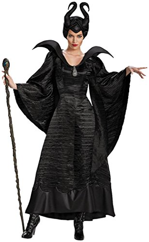 Disguise Women's Disney Maleficent Christening Gown Deluxe Costume, Black, 12-14