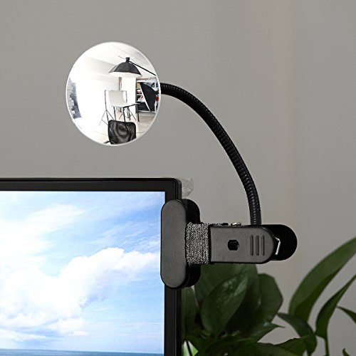 Clip On Cubicle Mirror, Computer Rearview Mirror, Convex Mirror for Personal Safety or Security Cabinet Desk Rear View Monitors (3.35'' Round) by CQNET by CQNET (Image #1)
