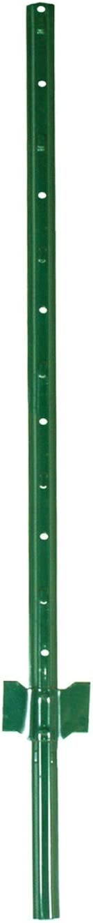 Garden Zone Utility Fencing Heavy-Duty Steel Fence Post (10 Pack), Green, 5'