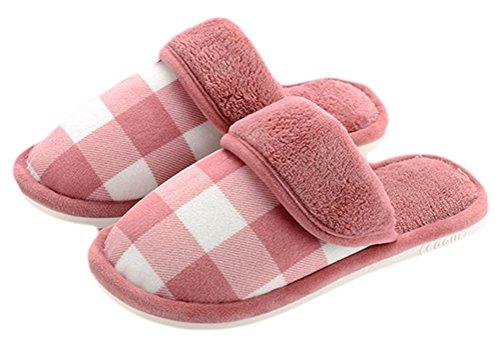 Léger Auspicious Pantoufle Beginning Du Chaussures Toe sur Adulte Slip Chaud Fermé Molleton Vin Intérieur 1qa0U1