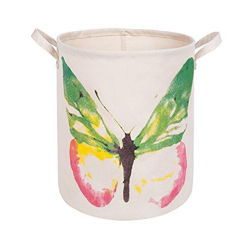 Baby Butterfly Shelf - XDeer 100% Cotton Canvas Storage Basket, Household Storage Organizer Bin, Baby Toys Storage Bins, Shelf Storage Cubes for Living Room Cabinet