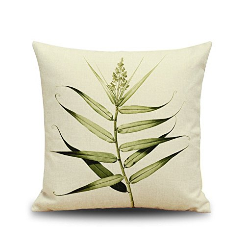 Leaf Cotton Linen Throw Pillow Cover Home Decorative Pillowcase Cushion Cover