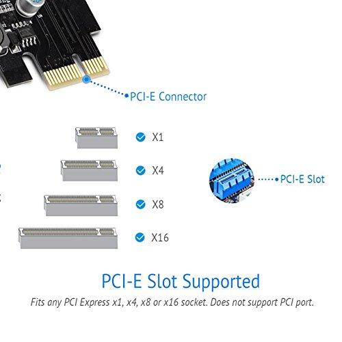 SupaHub PCI-E to USB 3.0 4-Port PCI Express Expansion Card, Windows XP, Vista, 7, 8, 10, Includes Driver and SATA 15-Pin Power Connector,2018 Version by SupaHub (Image #5)
