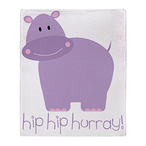 (CafePress Hip Hip Hurray Hippo Soft Fleece Throw Blanket, 50