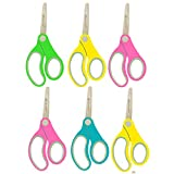 Westcott Left Hand Right Hand Soft Handle Blunt Tip Quality Kids Scissors 5'' (6 PK)-ASSTD Colors