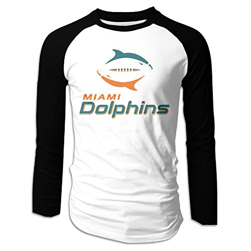 Creamfly Mens Miami Swimming Dolphins Long Sleeve Raglan Baseball Tshirt - Miami Blues Sunglasses