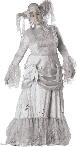 InCharacter Costumes, LLC Ghostly Lady Adult Plus Full Length Gown