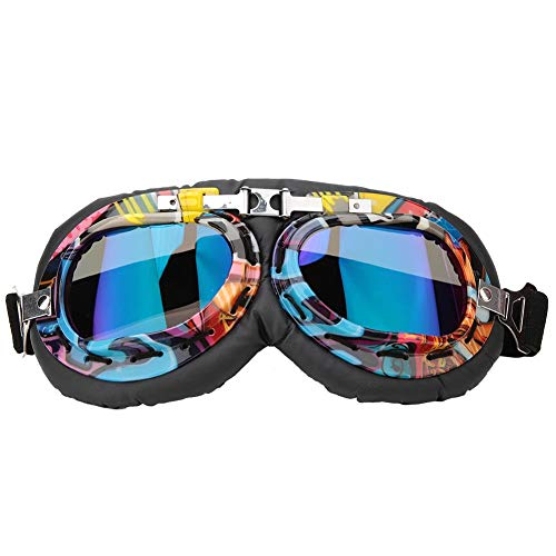 Woyisisi Vintage Windproof Dustproof Motorcycle Goggles Outdoor Riding Cycling Protection Glasses for Outdoor Cycling Sand Racing Outdoor Adventure Hiking, Mountaineering Activities ()