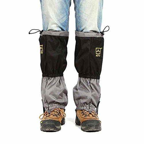 Outdoor Waterproof Snow Leg Gaiters Scratch Resistant for Outdoor Climbing Walking Jogging or Hiking on Snow and Ice (Black Red Blue Orange )