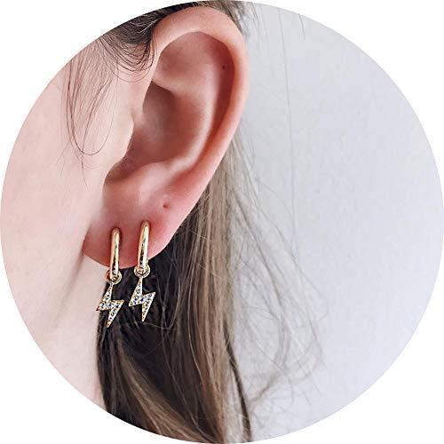 - WAINIS Tiny Hoop Earrings for Women Girls Small Moon Star Heart Boho Dangle Ear Jewelry