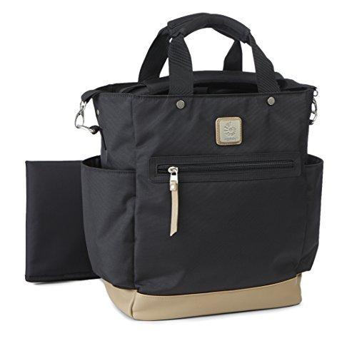 Ergobaby Tote Diaper Bag, Coffee Run Tall, Black/Tan