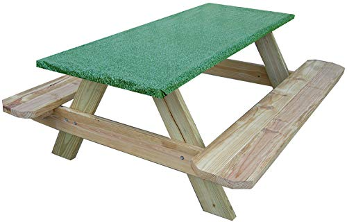 (30 x 72 6 Foot Fitted Picnic and Banquet Table Cover Green Granite)