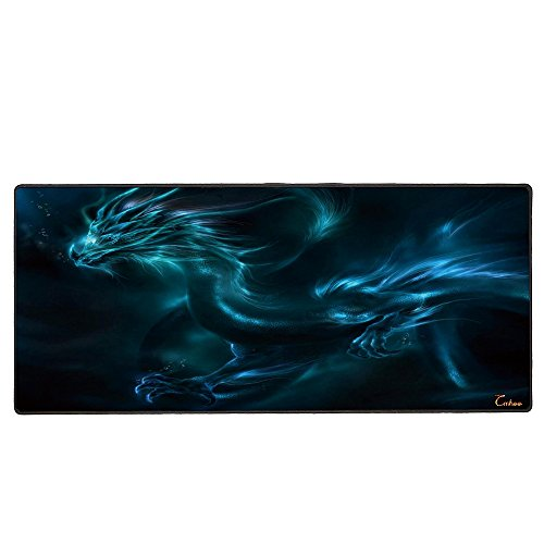 Cmhoo RGB Gaming Mouse Pad Large, Oversized 10 Mode Glowing Lighting Thick Extended Mousepad,Non-Slip Rubber Base…