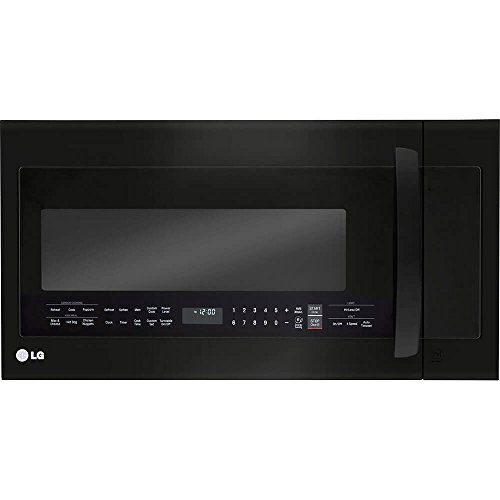 LG Electronics 2.0 cu. ft. Over the Range Microwave Oven in Matte Black Stainless Steel