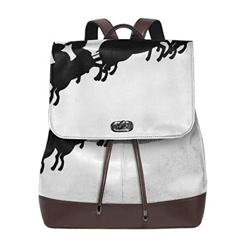DUKLP Santa Sleigh Silhouette Image Microfiber Leather Shoulder Bag Ladies Elegant Ladies Travel Shoulder Bag -
