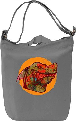 Wild Shark Borsa Giornaliera Canvas Canvas Day Bag| 100% Premium Cotton Canvas| DTG Printing|