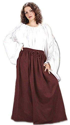 Medieval Renaissance Pirate Eleanor Cotton Skirt Costume [Chocolate] (Eleanor Cotton Skirt)