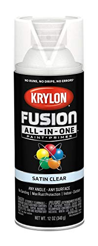 (Krylon K02735007 Fusion All-in-One Spray Paint, Clear)