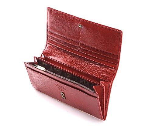 21 9 Color Cm Orientación X Horizontalmente Rojo Tamaño Grano Colección 19 Wittchen 1 Italy Cuero Material Marrón Billetera 333 De 4 vP7znw5agq