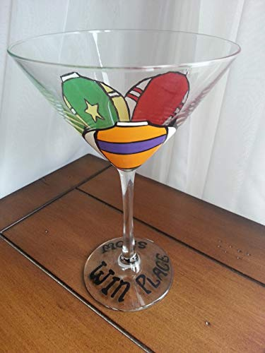 Horse Racing Silks 9.5 oz. Martini Glass - Win, Place, Show