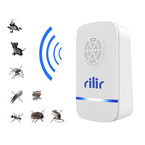 Ultrasonic pest repeller-Professional Electronic Pest Control, Portable For Insect Repellent-Repels Mosquitoes , Spiders , Bed bugs , Cockroaches , Mice ,Flies, Fleas ,Indoor, rilir (1 Pack )