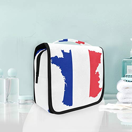 MALPLENA Portable Storage Bag French Borders Travel Makeup Bag Cosmetic Bag for Makeup Brushes Toiletry Jewelry -