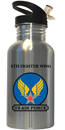 8th Fighter Wing - US Air Force Stainless Steel Water Bottle Straw Top, 1021