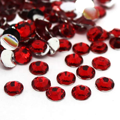 Three Piece Resin - Zbella 3,000 Piece Resin 14-Facet Flat Back Round Rhinestones 3mm ss12, 4mm ss16, 5mm ss20 Bulk Free Rhinestone Picker Wax Pencil (Siam)