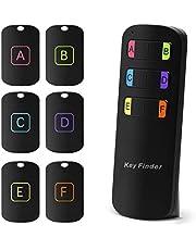Buscador de Llaves 6 en 1 Rastreador Inalámbrico de Llaves Control Remoto RF Localizador de Artículos con Linterna LED y Alarma de 80dB Rastreador de Artículos para Llaves Mascotas Billetera Teléfono
