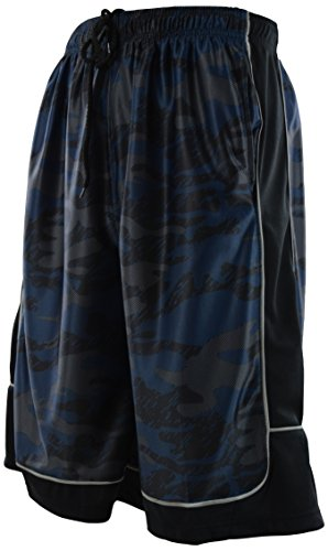 ChoiceApparel Mens Two Tone Training/Basketball Shorts with Pockets (S up to 4XL) (M, 389-Navy) by ChoiceApparel (Image #1)