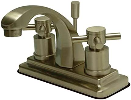 Kingston Brass KS4648DX Concord 4-Inch Centerset Lavatory Faucet with Concord Cross Handle, Brushed Nickel