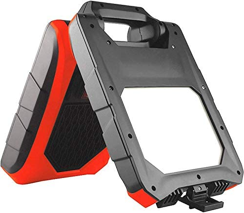 NightSearcher Galaxy 1500R, 1500 Lumen Rechargeable LED Work Light with Folding Case for Impact Protection, 1500 Lumen, IP54 Rated