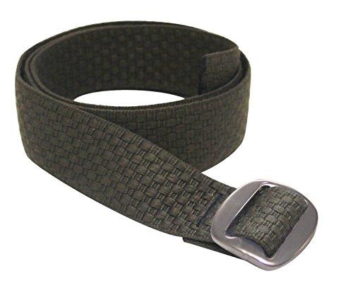 Lattice Belt - Bison Designs Women's Reversible to Solid Color Subtle Clinch Belt, Lattice Walnut, Small/34