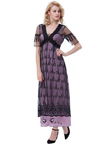 Lang 1 Damen Bp247 Kleid Gothic Schwarz Kleid Corsagenkleid Poque Belle Steampunk 1qRAYwx