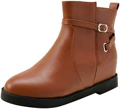 1577397d9cb HYIRI New Classic Women's Madeline Western Almond Round Toe Slip on Bootie  - Low Stack Heel